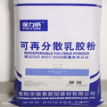 Re-redispersible polymer powder for skim coat