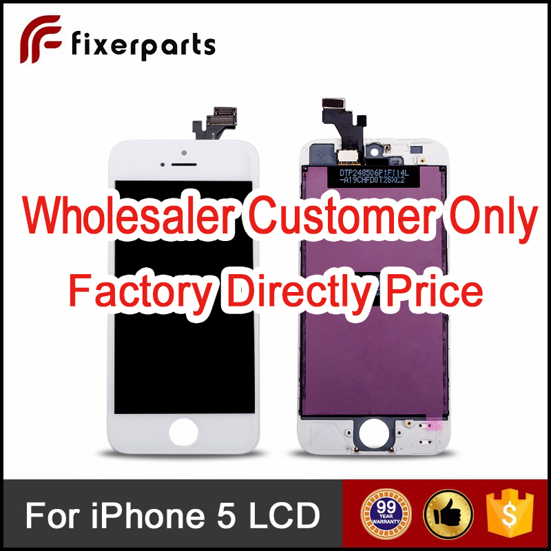 Fixerparts Mobile phone LCD for iPhone 5 5c 5s Screen , for iPhone 5 LCD
