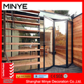 Customized High Security Durable Aluminum Double Tempered Glass Folding Door