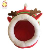 Wholesale fabric santa pet house for dog