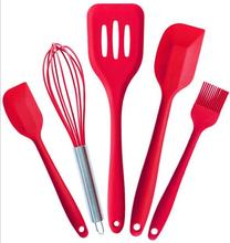 2016 hot selling Silicone Spatula Utensil Set-5 Pieces with Lifetime Guarantee