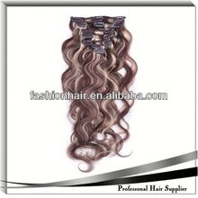 2014 New fashion Hair Extension Clip Hair Extension wig golden hair company for gift