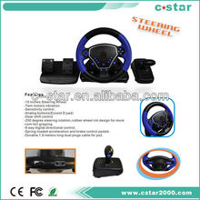 2017 ShenZhen factory wholesale price mini steering wheel for ps2/pc usb