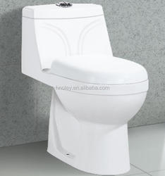 Sanitary ware bathroom one piece toilet , Modern design washdown ceramic wc toilet