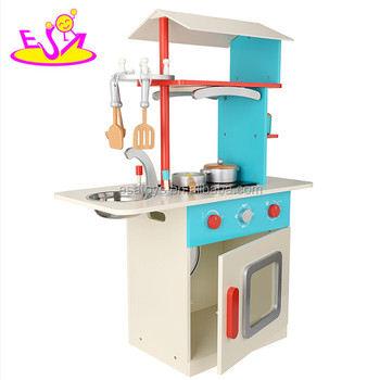 DIY Kids Wooden Kitchen Set Toy for kids,Role play wooden Kitchen Tableware Toy W10C156