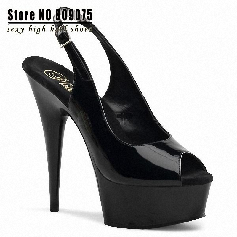 Get Quotations · Free Shipping Women 2015 HOT Fish Mouth Sexy 6 Inch High  Heel Shoes Women Ladies Fashion a14459e508c4