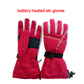 best selling winter women luxurious battery heated ski snowboard gloves