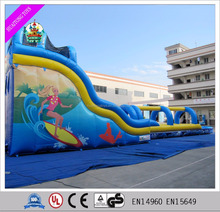 2016 Commercial used inflatable water slide/huge bouncy slide for sale