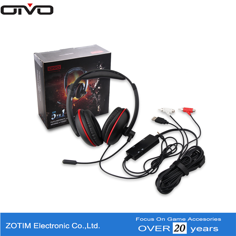 Universal Microphone, Noise Cancelling Function And 3.5mm Connectors Chat Headset For Xbox One / PS4 / PS3 / PC