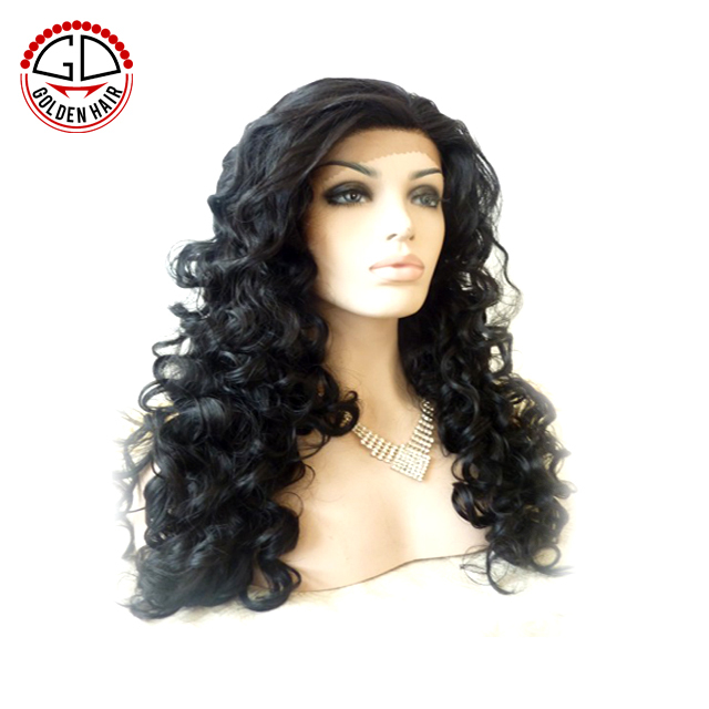 New Style Fashion Design Long Afro Kinky Curl Lace Front Female Synthetic Wig