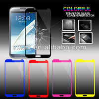 High Quality 0.26mm 2.5D Anti-Shock Color glass screen protector for Samsung galaxy note 2 N7100 oem/odm (Glass Shield)