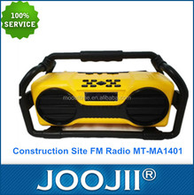 Anti-shock Construction Site FM Radio with USB Charging Port for Mobile Phone