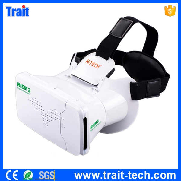 Virtual Reality 3D Glasses 360 Degree Viewing VR Headset BOX Google Cardboard Helmet 3D VR Box for 3.5-6 Smartphone