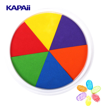 6 Colours or Customized Craft Finger Rainbow Ink Pad for Kids