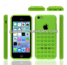 Hole color case for iphone 5c,New Arrival Silicon Case for Iphone5C
