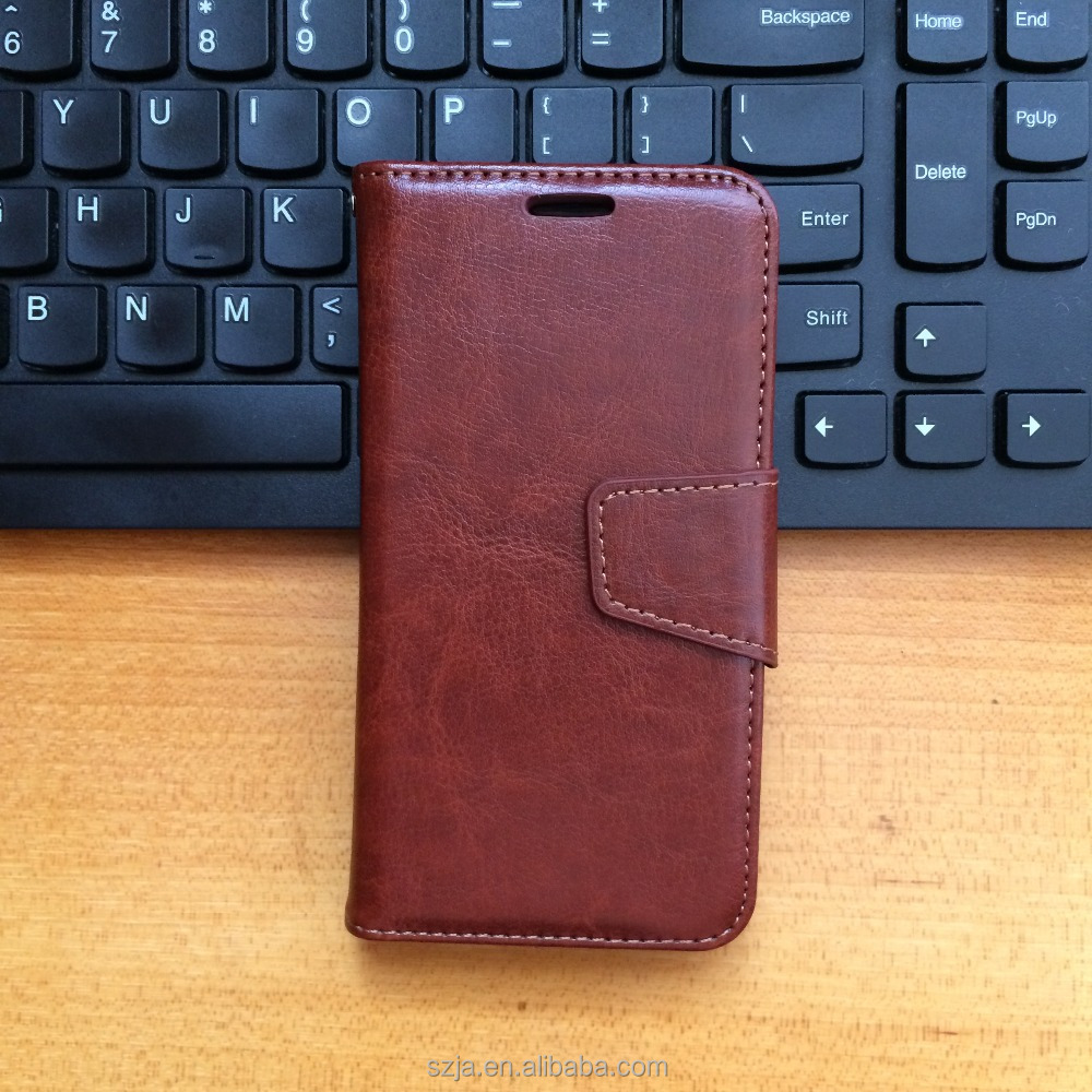 Factory direct mobile phone leather wallet case for redmi 3S prime flip case with folder