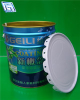 18L metal oil/glue can with lid,tin container with handle