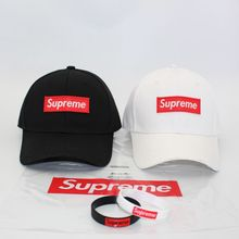 wholesale 6 panel Curved Brim solid white and black supreme baseball hats golf caps