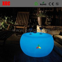 High quality LED round cheap glass top coffee table GF306