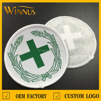 custom religious embroidered cross patches