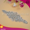 Crystal beaded headband bridal sash applique rhinestone bridal headpiece