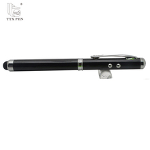 promotion 4 in 1 multifunctional touch screen pen,ball pen with led light, flashlight stylus pen