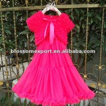Hot design hot pink evening dress fancy dress long