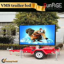 Food shop led trailer advertising display / rolling advertising led display trailer / mobile trrailer led displaylic Lifting