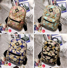 Fashion floral anvas bag students fashion mini bag