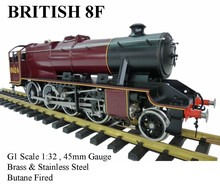 8F 1:32 Live Steam Locomotives (Brass made)