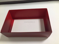 Foldable paper box with lid, easy shipping folding paper box with logo printing