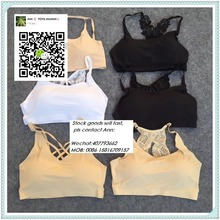 One piece sports vest bra no trace gym tank top ice silk low moq sport bra for Thailand market