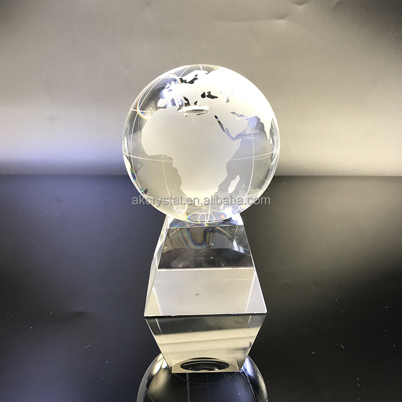 Hot sale souvenir or business gift use, crystal globe from factory supply