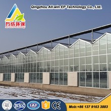 factory outlet agricultural glass greenhouse with Sun Shading System