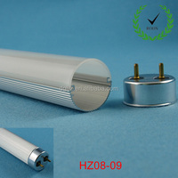 600mm T8 led plastic extruded tube for led fluorescent light fixture cover