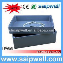 2014 High quality IP65 plastic pcb enclosures 340*235*160MM(aluminum box serirs) WITH CE Approval