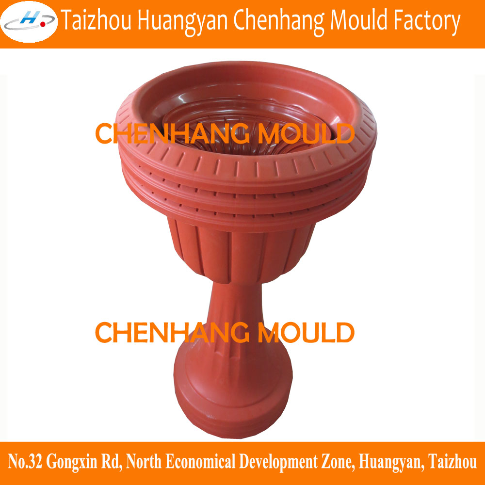 2015 Hot sale flower container mould for plastic decoration