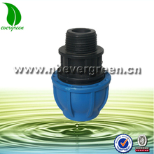 PE pipe compression male coupling