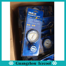 Refrigeration R22/R134/R407C/R410A Blue color Value one-way single low pressure gauge VMG-1-U-L