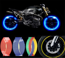 YOUME New Strips Wheel Stickers And Decals Reflective Rim Tape Bike Motorcycle Car Tape 5 Colors Car Styling