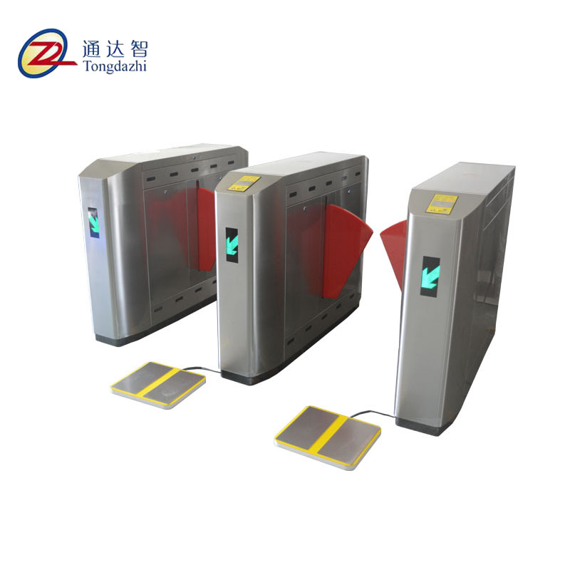 Automatic access control flap barrier gates with ESD system turnstile gate access control attendance machine