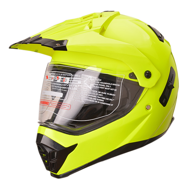 High quality DOT, ECE approved double visor dual sport casco dirt bike off road helmet