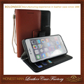 High Quality Card Holder Leather Flip Case for iPhone 6 Plus, 6s plus wholesale