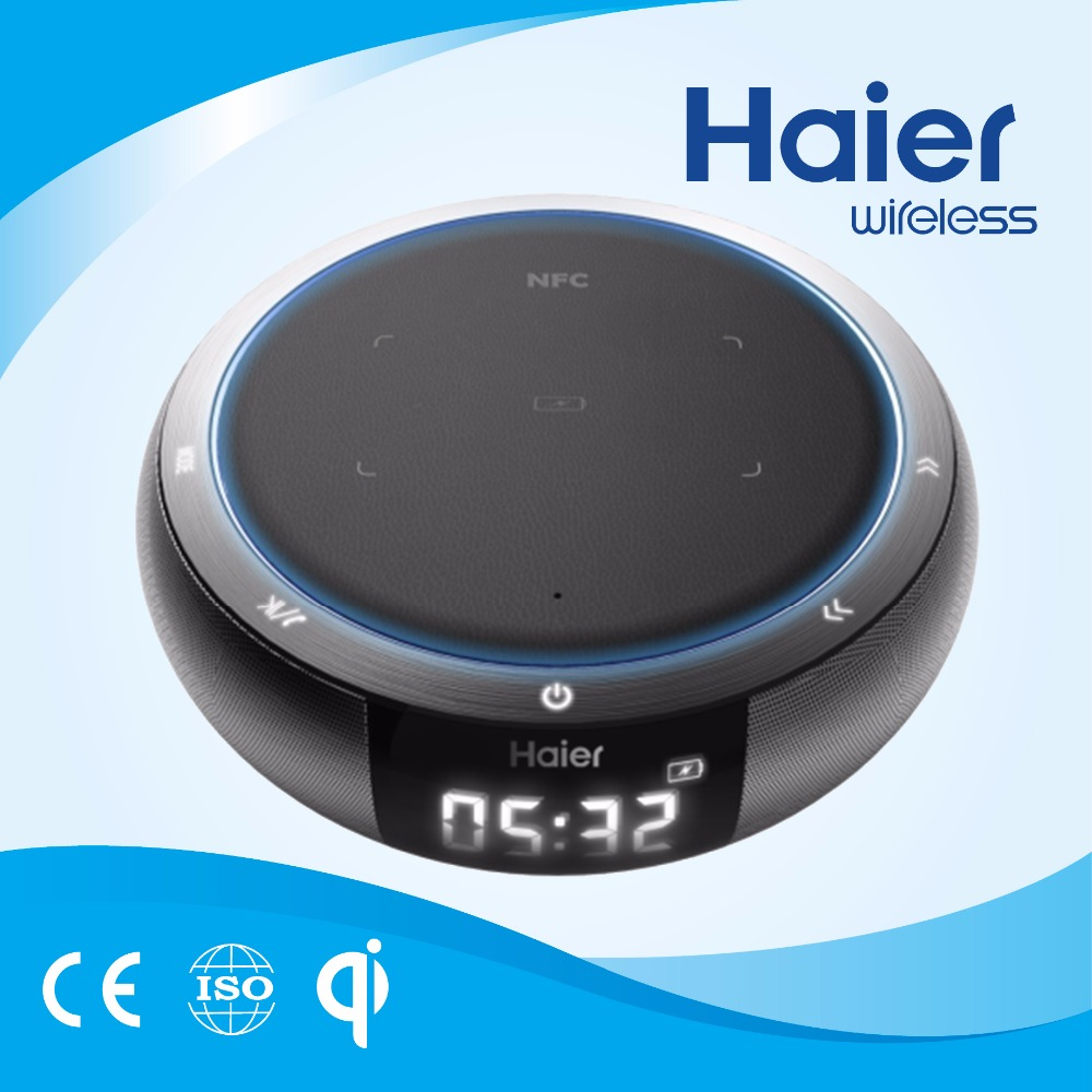 Haier Wholesale Universal Wireless Charging Portable Bluetooth Loudspeaker 2017