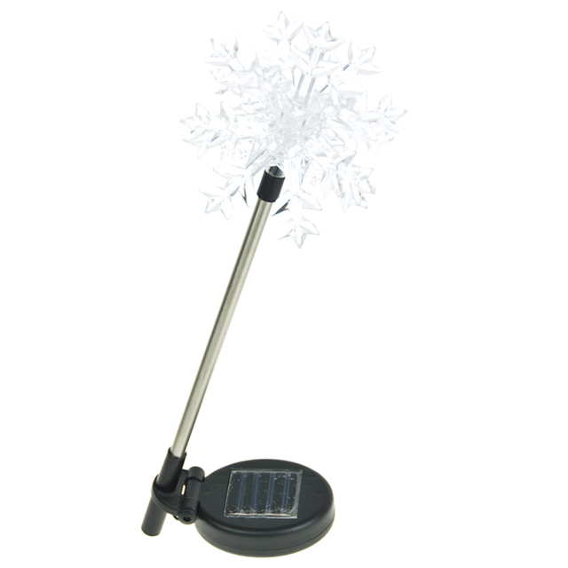 Waterproof design christmas garden decoration snowflake led solar lawn light