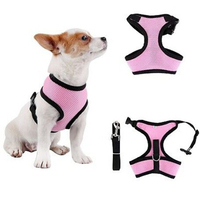 Dog Harness Breathable Pet Vest Rope breakaway Chest Strap Set Collar Leads