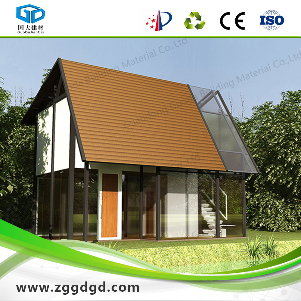 woodstyle decoration cladding vacation house small steel frame house