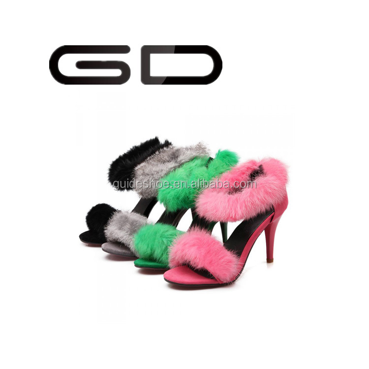 GD sexy fish head ladies shoes night club party super high heels thin heels women's high heels sandal