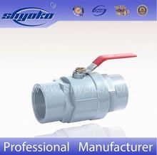 China 2PCS PVC Ball Valve With Stainless Steel Handle for Water Supplier