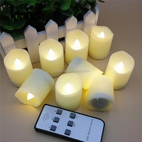 Flameless LED Tea Light Candles, Realistic, Battery Powered, Unscented Tealight Candles (Pack of 6,9,12)